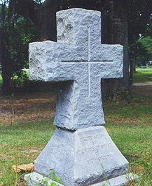 An old-fashioned headstone.