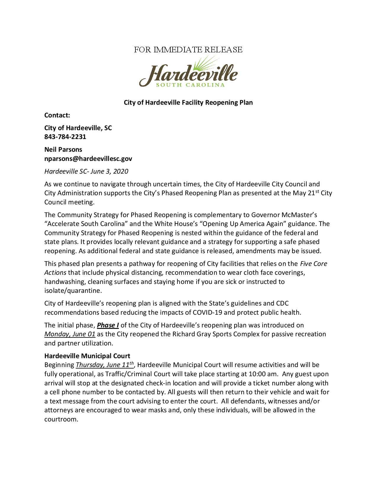 City of Hardeeville Reopening Plan Press Release-page-001
