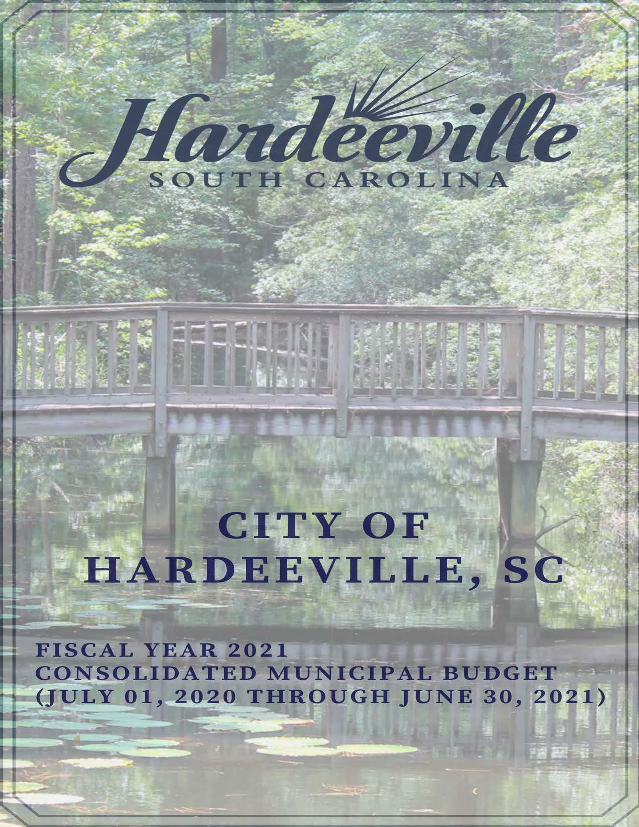 City of Hardeeville Consolidated Municipal Budget